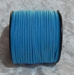 Faux Suede Cord Flat 3mm Blue