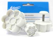 Set of 3 Petal Flower Ejector Cutters