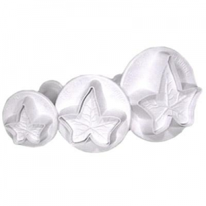 Set of 3 Ivy Leaf Plunger Cutter