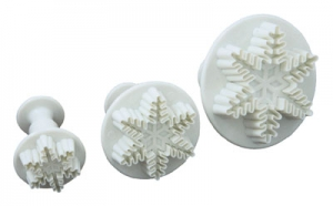 Set of 3 Snowflake Plunger Cutter