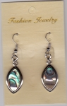 Abalone Shell Earrings Diamond 1
