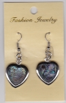 Abalone Shell Earrings Heart 1