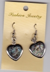 Abalone Shell Earrings Heart 2