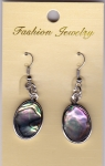 Abalone Shell Earrings Oval 2