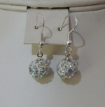 10mm Shamballa Drop Earrings Aurora Borealis