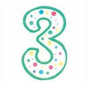 Wilton Number 3 Green Birthday Candle
