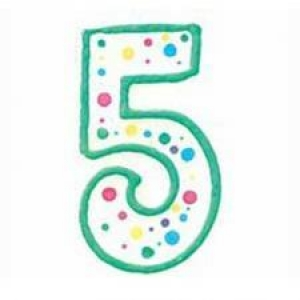 Wilton Number 5 Green Birthday Candle