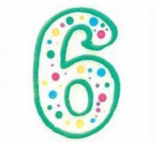 Wilton Number 6 Green Birthday Candle