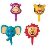 Wilton 4pc Jungle Pals Candle Set