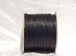 1mm Black Round Imitation Leather Thonging