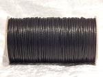 2mm Black Round Imitation Leather Thonging